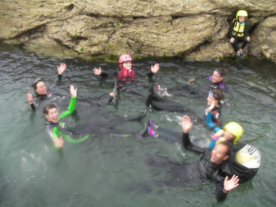family rockpool coasteer polzeath 2