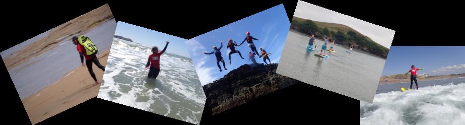 Coasteering surfing SUPing with Saltwater Safari